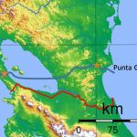 Proposed route of the Nicaragua Inter-Oceanic Canal