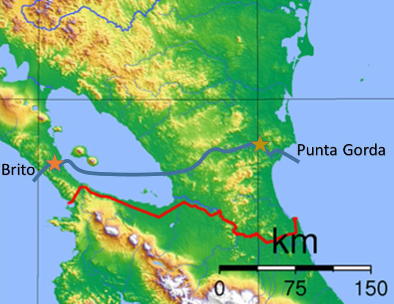 Proposed Route Of The Nicaragua Inter-Oceanic Canal, Source: Wikipedia