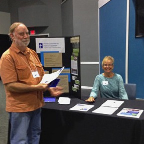 An Assembly Participant and Karen Putney at the FCNL Table