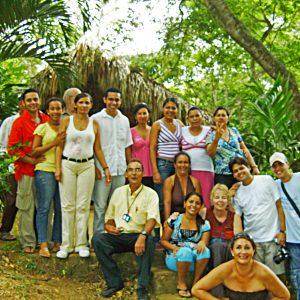 Cece Yocum with a workshop group