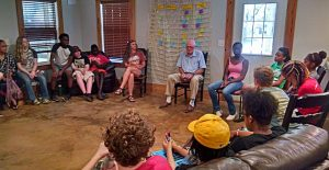 Al Geiger speaks to young Peacebuilders; photo: Willie Hager