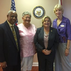 Paul Mondesir (AFSC), Kathy Hersh, Rep. Ros-Lehtinen, & Andrea Hoskins