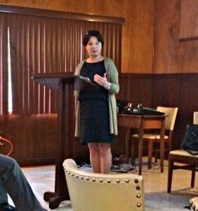 Susan Waltz presented the Michener Lecture 2017. photo: Nancy Corindia