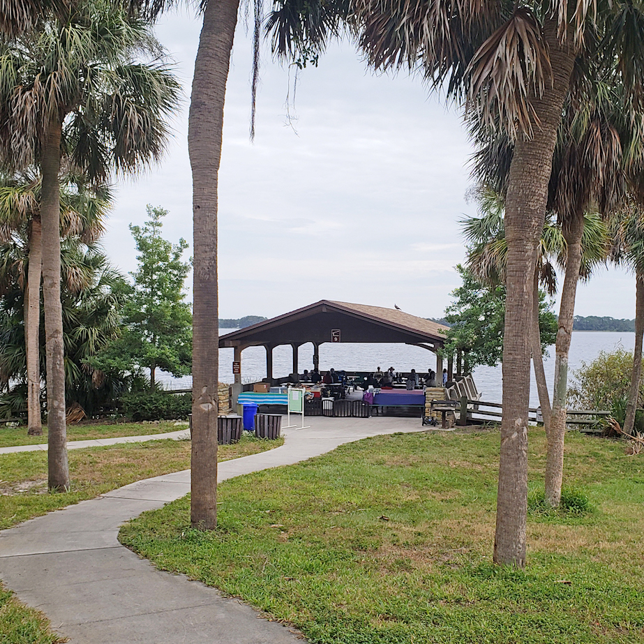Pavilion On Lake Tarpon. Photo: Cindy Mercer