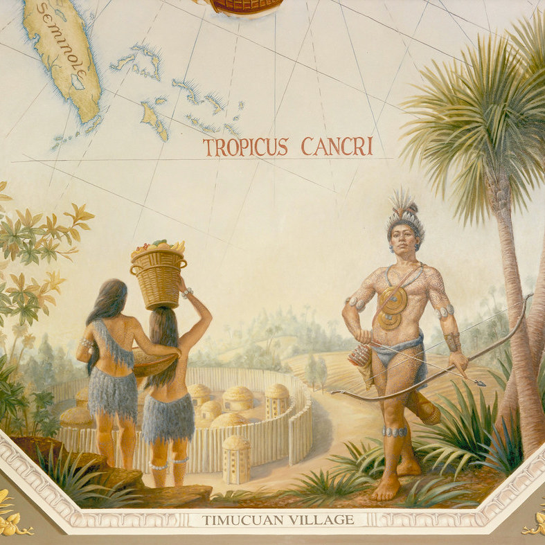 Timucuan Village. Credit: Architect Of The Capitol